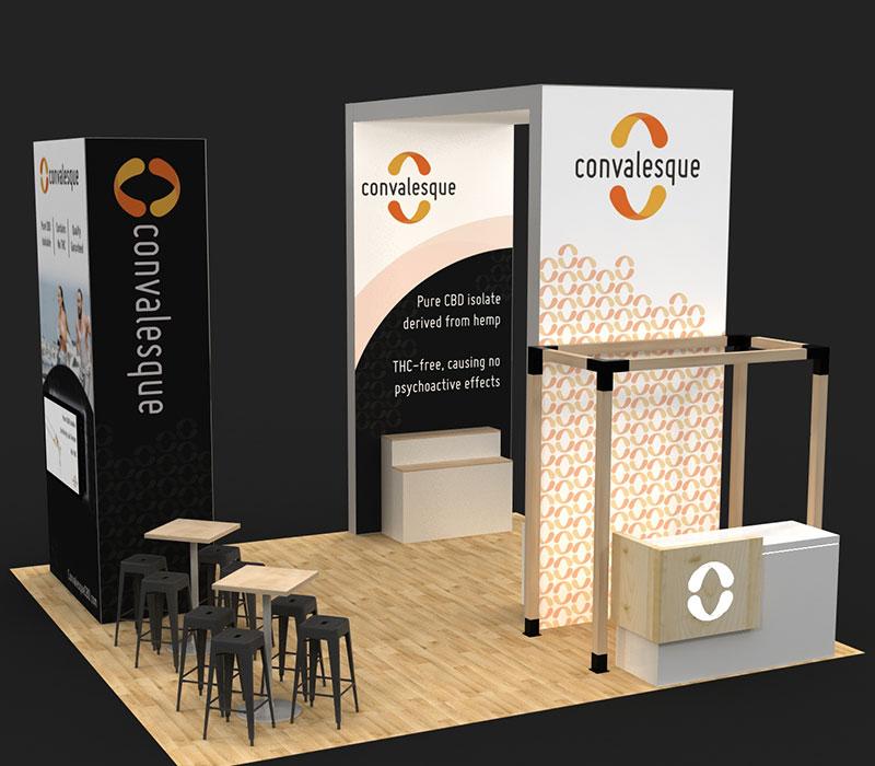 MJBizCon trade show booths