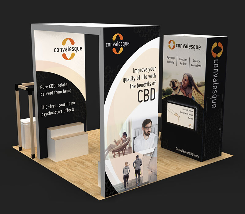 World CBD Expo trade show displays