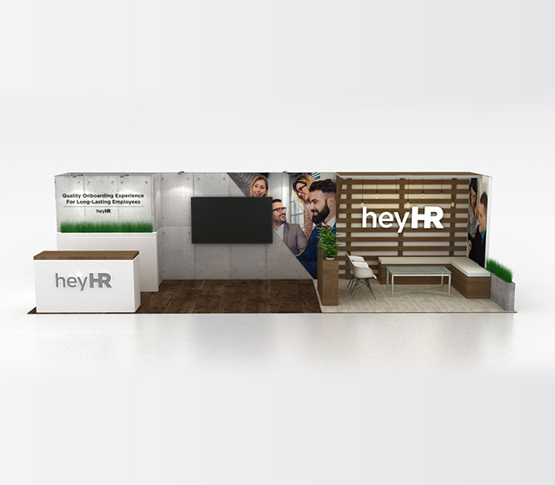 HR Technology trade show displays
