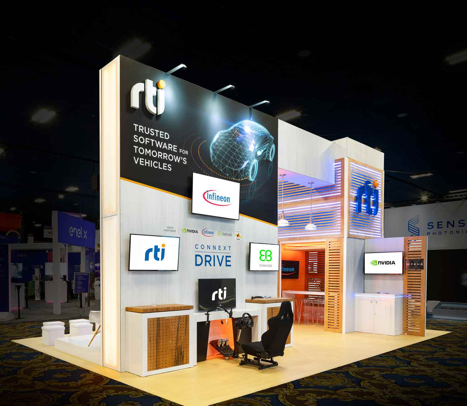 custom trade show booth for CES 2020