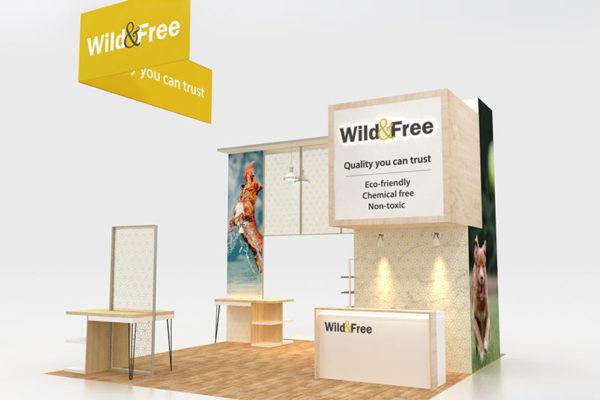Wild & Free 20 x 20