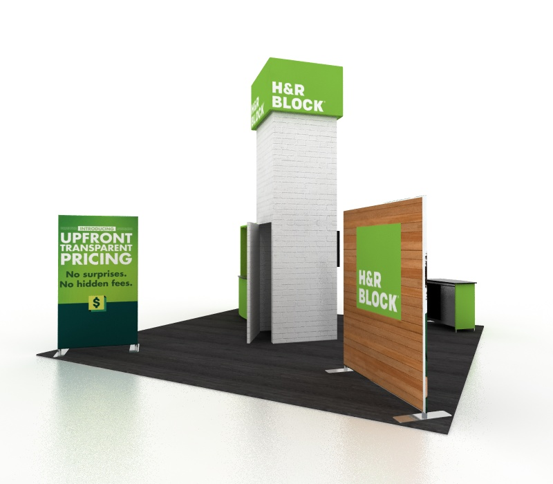 Lightweight 20x20 Trade Show Display with Storage Room