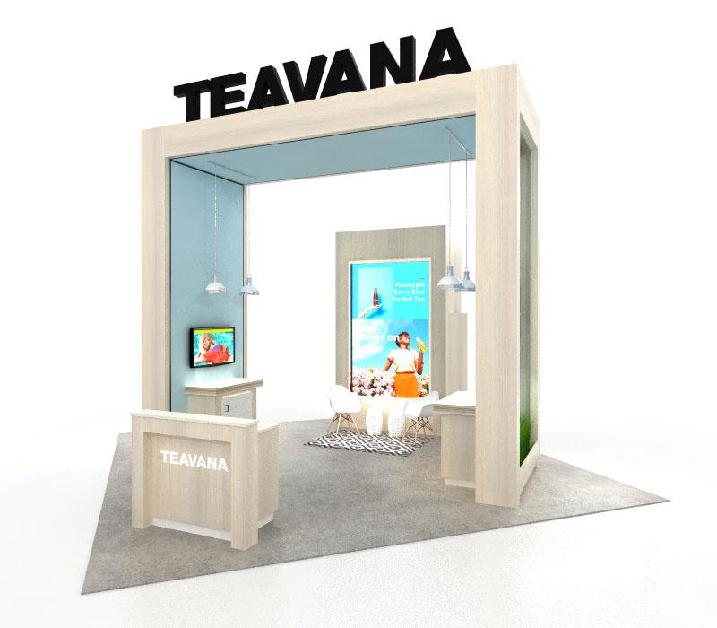 custom laminate upscale 20x20 trade show display