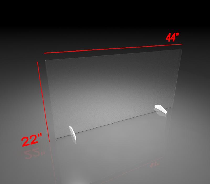 22x44 Inch Clear Acrylic Plexiglass Sneeze Guard