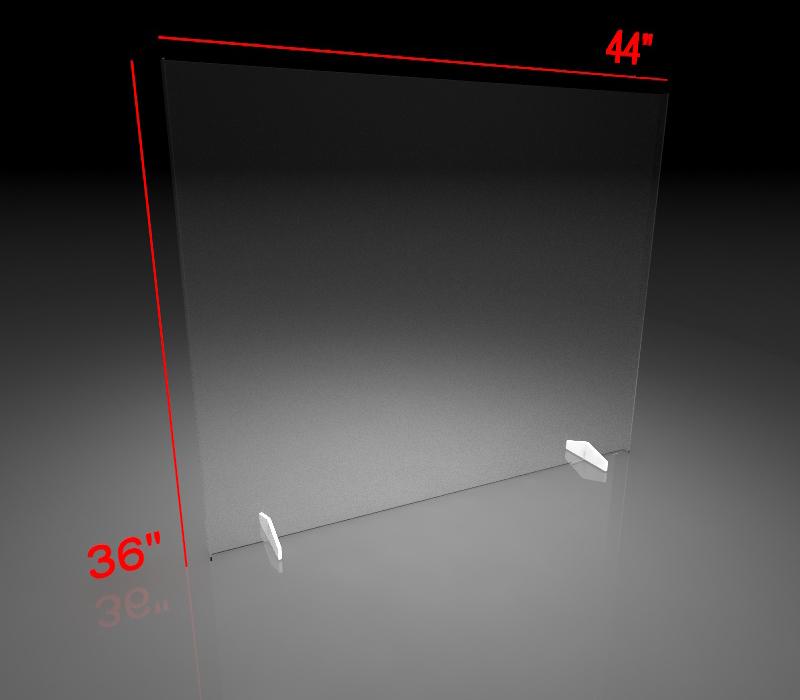 36x44 Inch Clear Acrylic Plexiglass Sneeze Guard