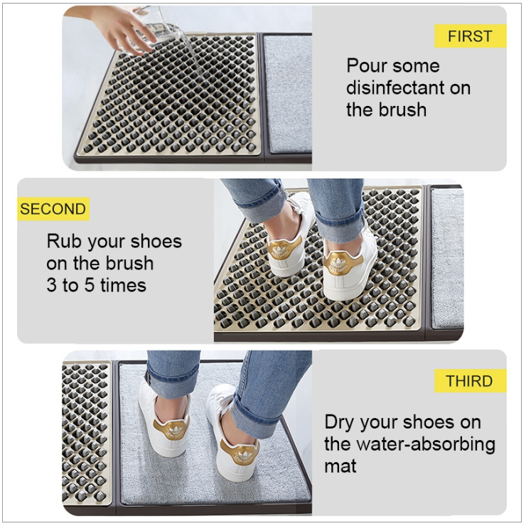 10x10 channel tent with disinfecting floor mat