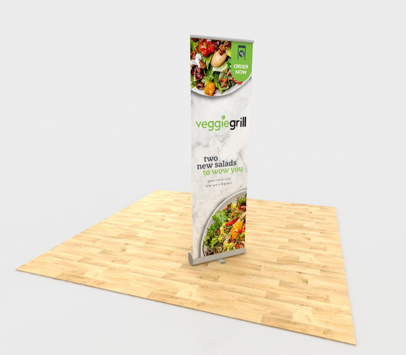 """24.5""""w x 78.5""""h Economy Retractable Banner Stands"""