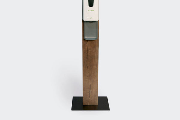 Wood Hand Sanitizer Stand & Station with Automatic Touchless Dispenser