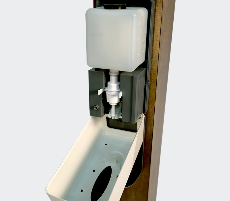 hand sanitizer stand station with automatic touchless dispenser gel sanitizer reservoir