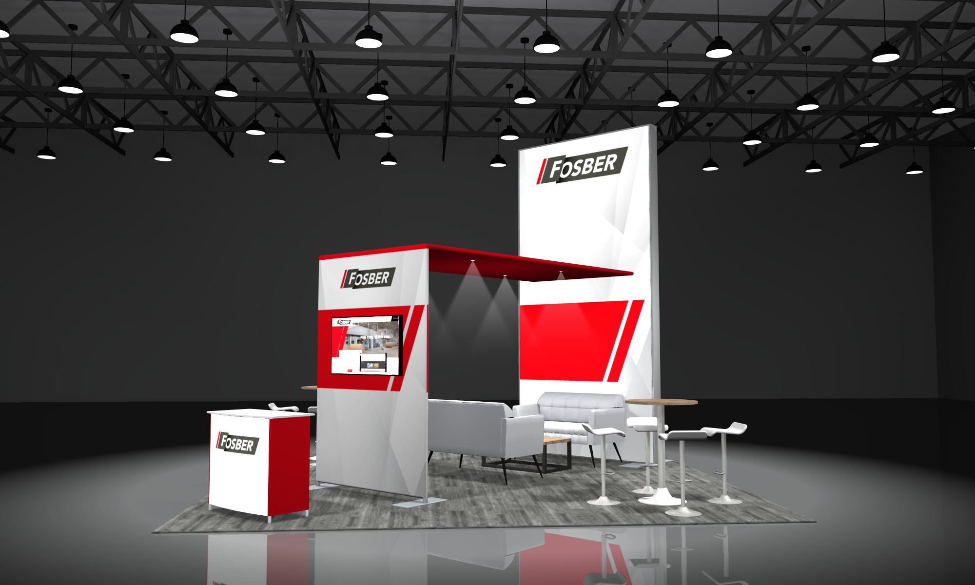 modular 20x20 trade show displays