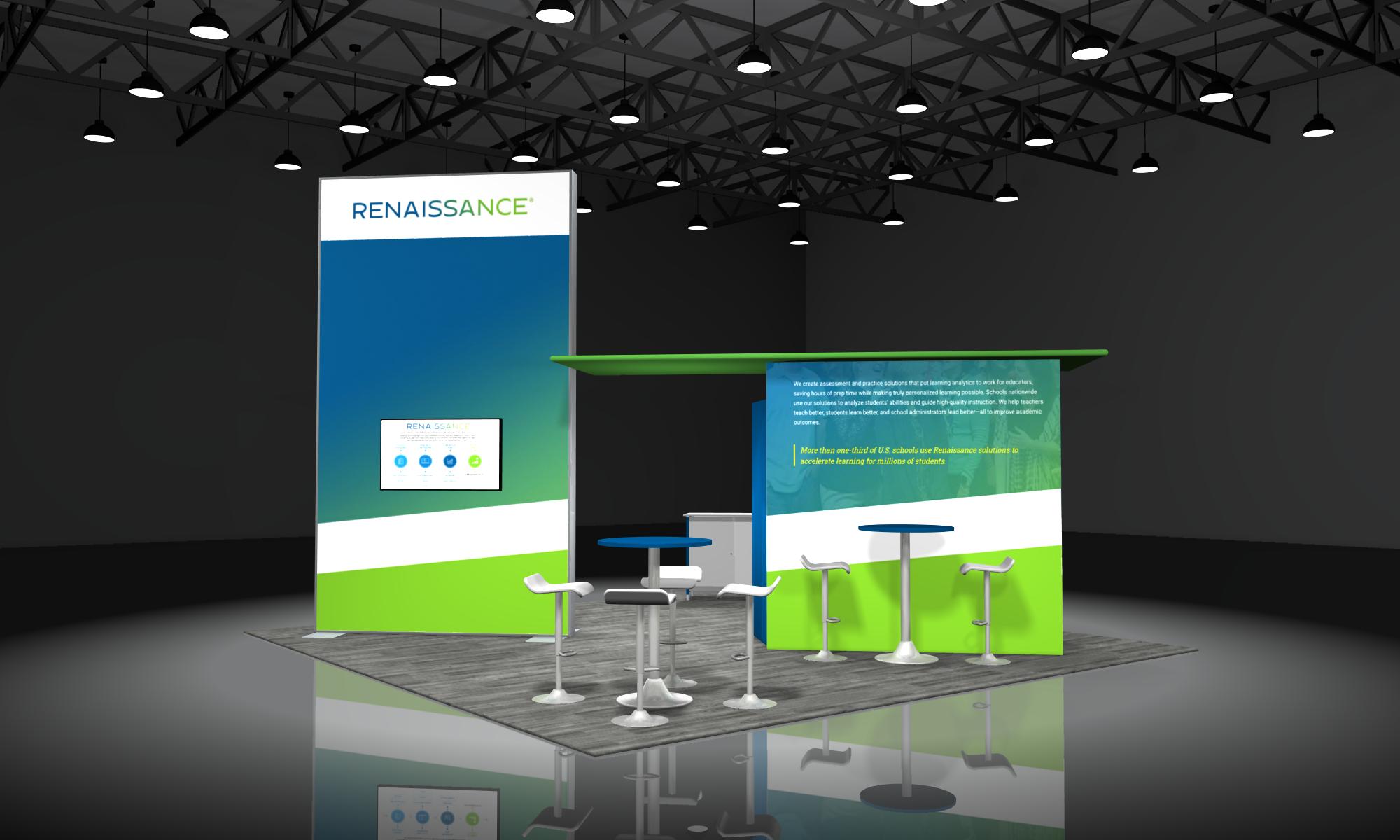 20x20 modular trade show displays