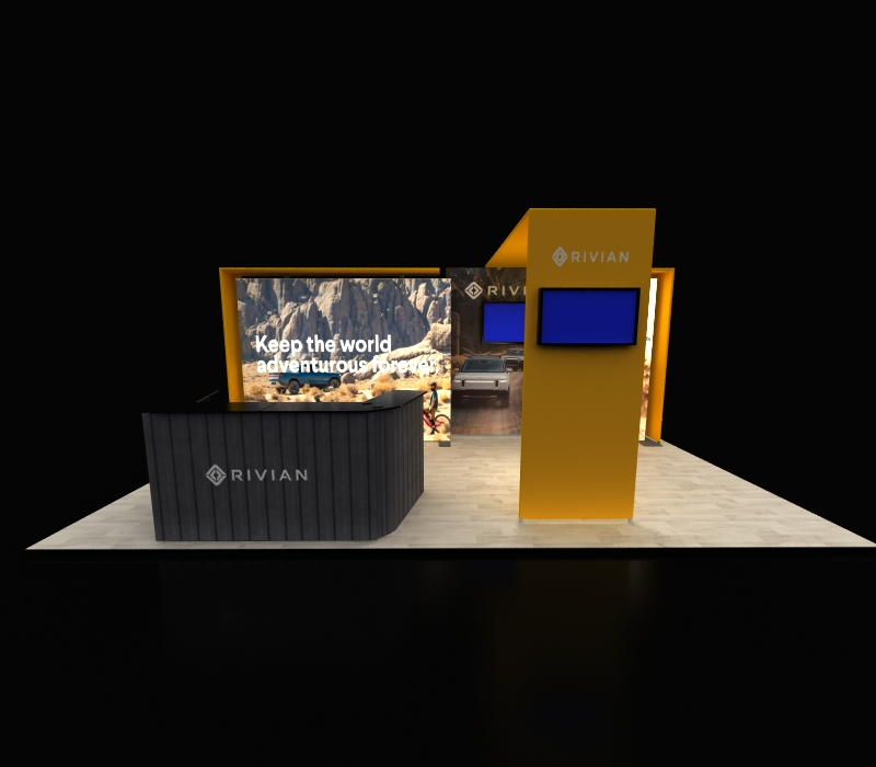 Custom Modular 10 x 20 Backlit Lightbox Radiant 213C