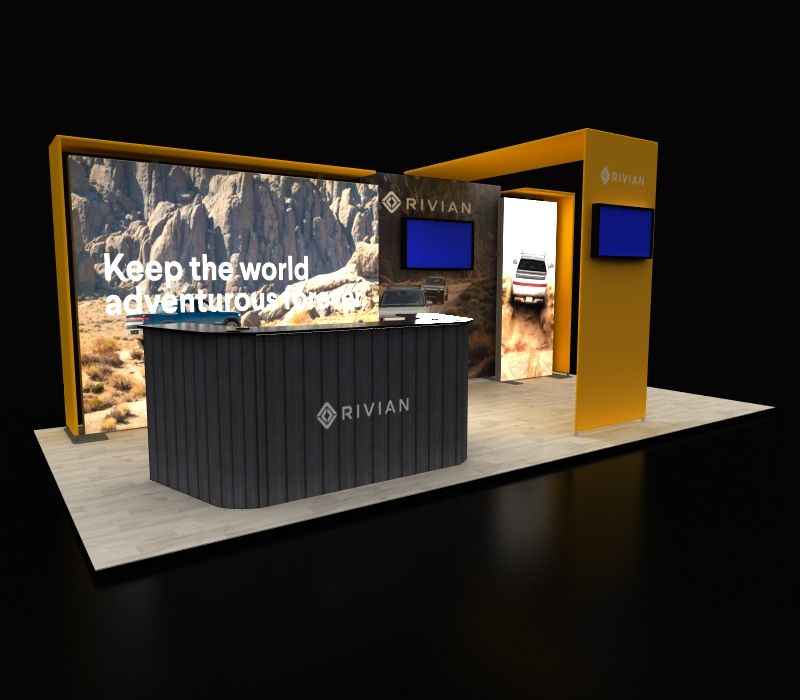 Custom Backlit Trade Show Displays with Canopy