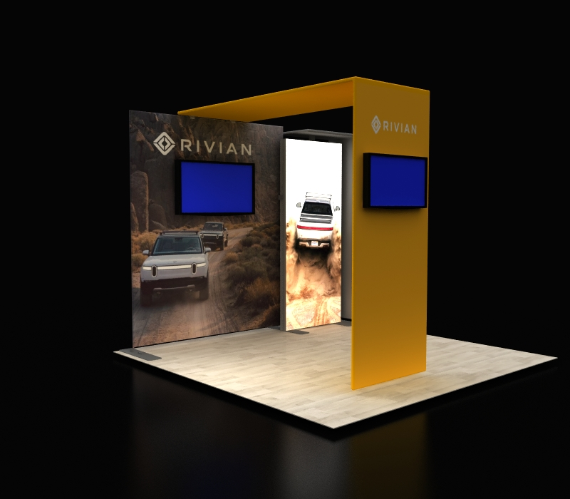 10x10 Backlit Display with Canopy