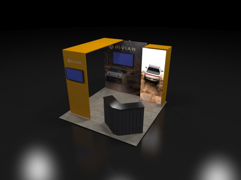 Backlit 10x10 Trade Show Display with Canopy