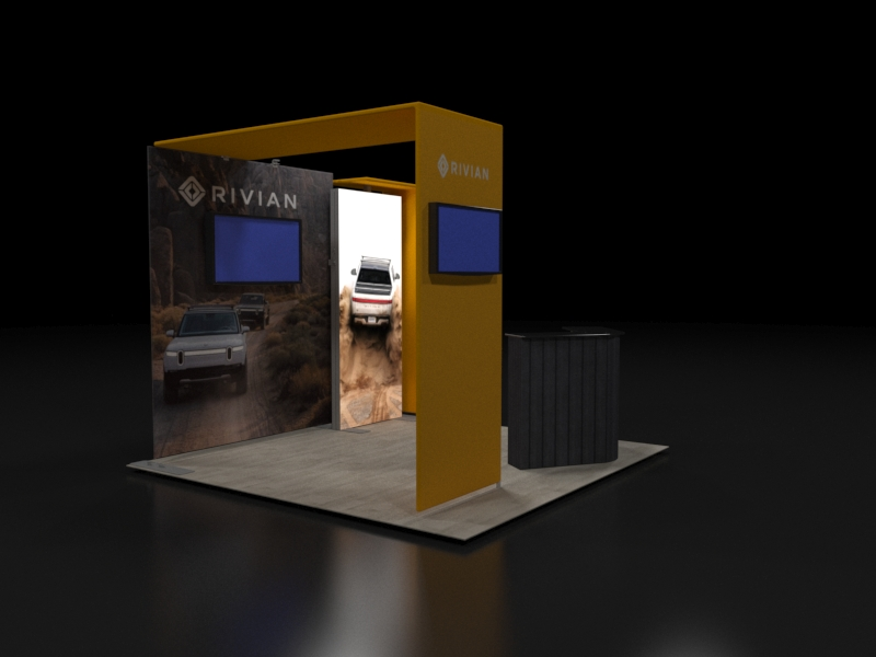 Backlit 10x10 Trade Show Booth with Canopy
