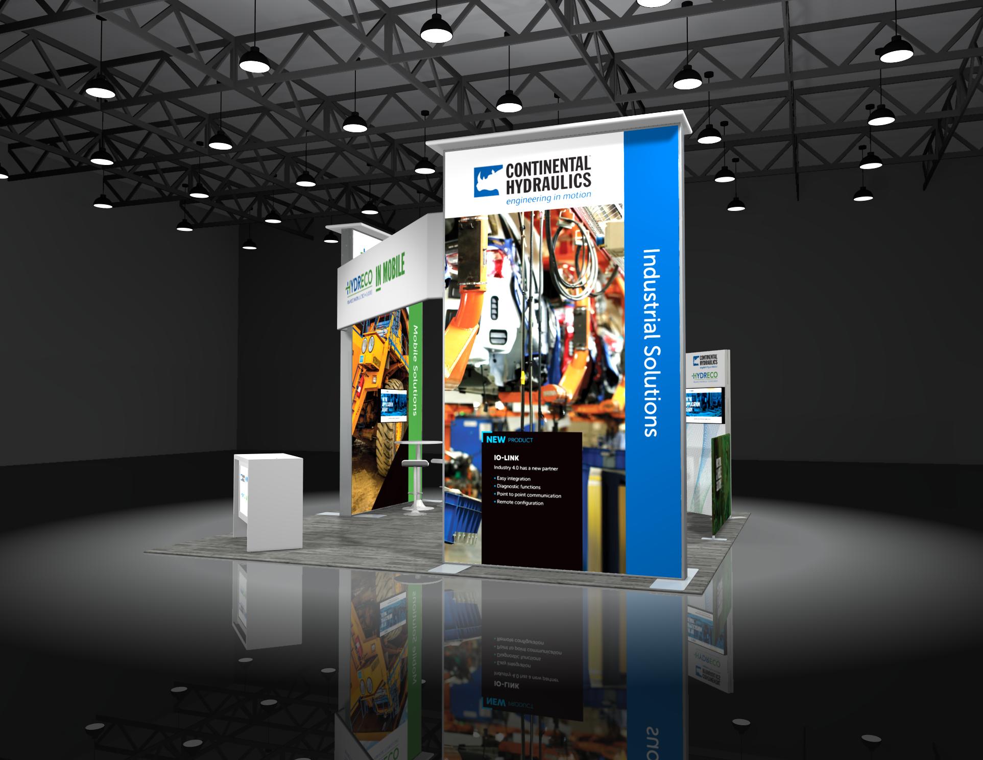 Custom 20x20 Trade Show Booth