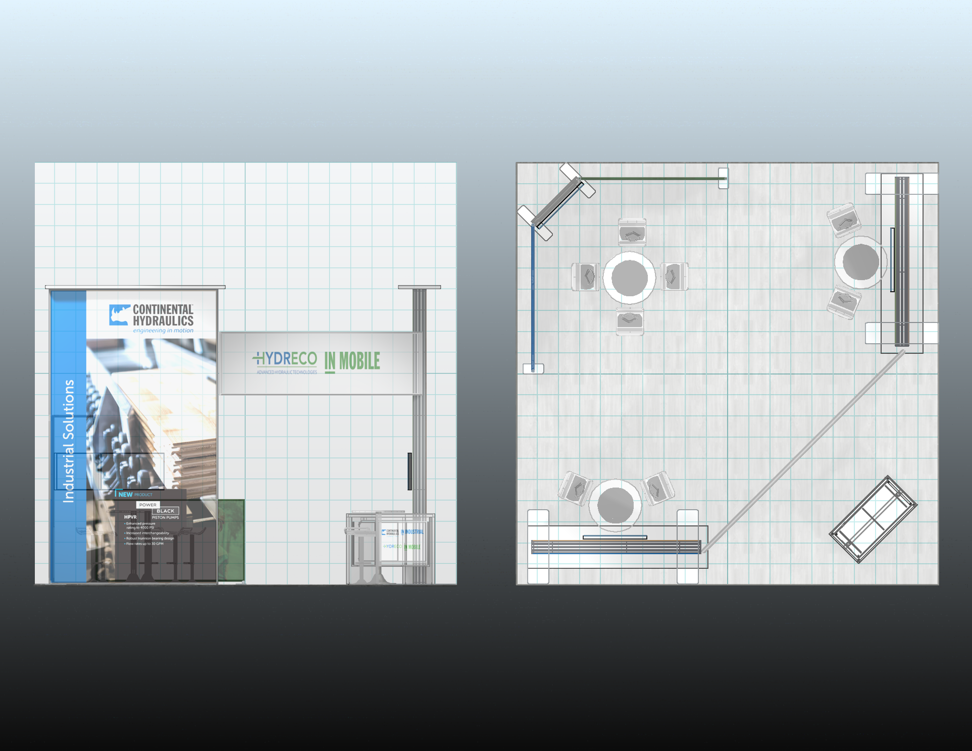Custom 20x20 Trade Show Booth Overview