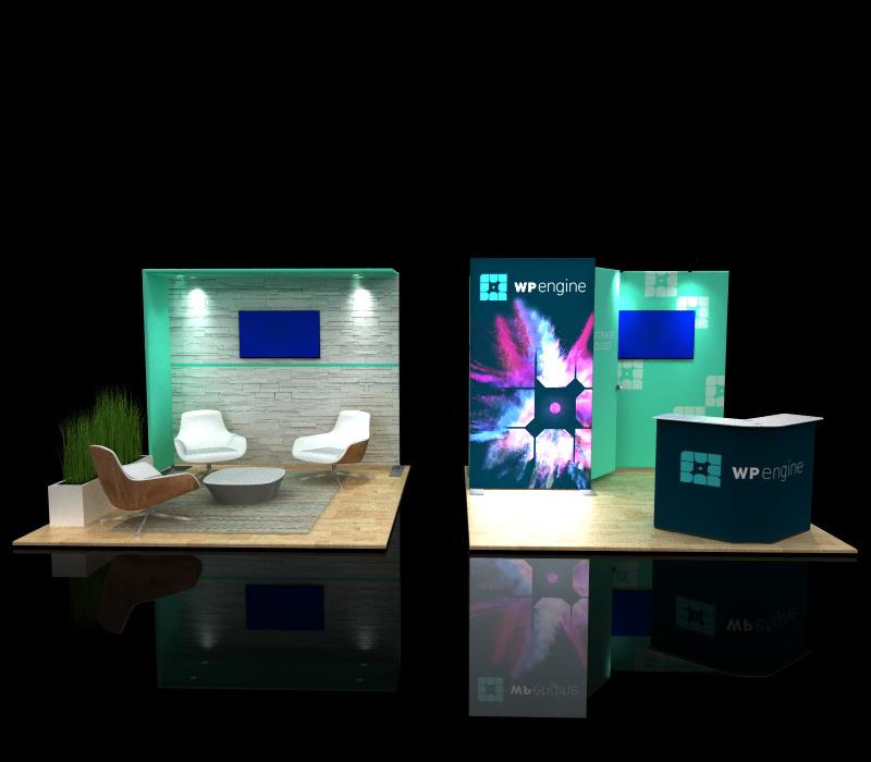 portable 10x20 backlit modular display converted to two 10 x 10 displays
